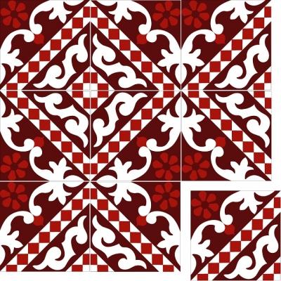 Элегантная цементная плитка ручной работы Luxemix. Арт.: ele_02