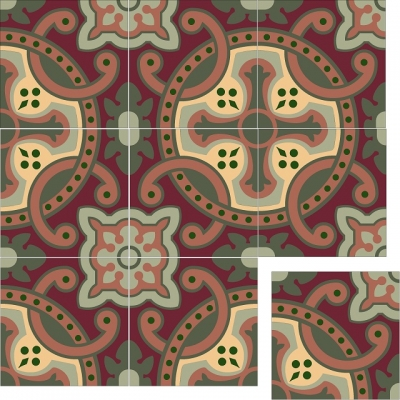 Элегантная цементная плитка ручной работы Luxemix. Арт.: ele_04