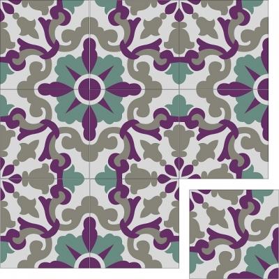 Элегантная цементная плитка ручной работы Luxemix. Коллекция Elegance. Арт.: ele_08
