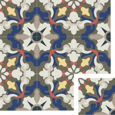 Элегантная цементная плитка ручной работы Luxemix. Арт.: ele_08