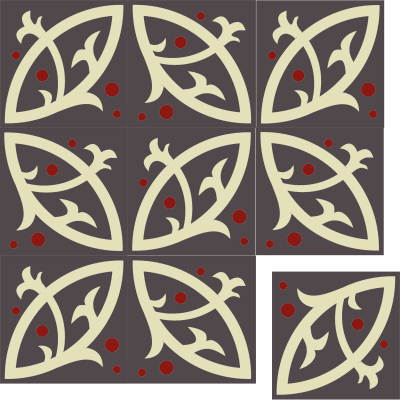 Цементная плитка ручной работы Luxemix. Коллекция Elegance. Арт.: ele_09