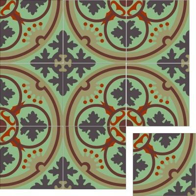 Элегантная цементная плитка ручной работы Luxemix. Арт.: ele_12c1