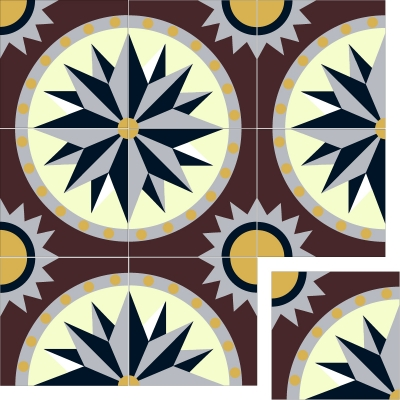 Элитная цементная плитка ручной работы Luxemix. Арт.: est_09c3