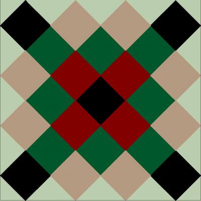 Квадратная цементная плитка ручной работы от Luxemix арт.: Geo_12