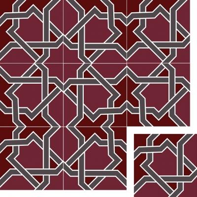 Цементная плитка Luxemix. Коллекция Geometry. Арт.: geo_18