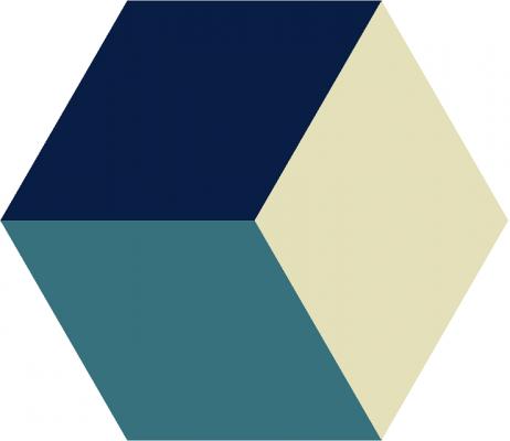 """Шестиугольная цементная плитка ручной работы от Luxemix с узором """"3D Hexagon"""""""