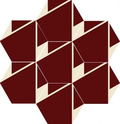 """Шестиугольная цементная плитка ручной работы от Luxemix с узором """"Plisados"""""""