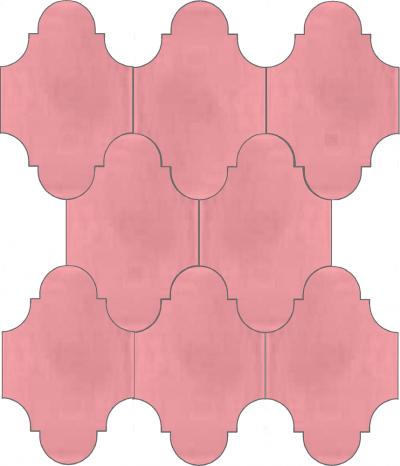 """Плитка Luxemix ручной работы в форме """"Фонарик"""". Цвет розовый, пудровый, розовый ral 0207030."""
