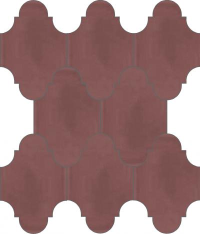 """Плитка Luxemix ручной работы в форме """"Фонарик"""". Цвет черешня, вишневый светлый бордовый ral 0304020"""