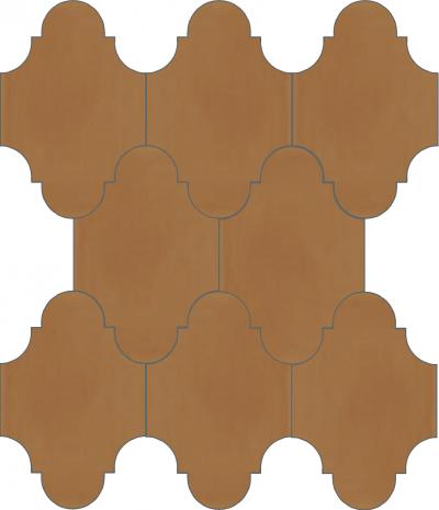 """Плитка Luxemix ручной работы в форме """"Фонарик"""". Цвет коричневый, светло-коричневый, карамельный ral 0605040"""