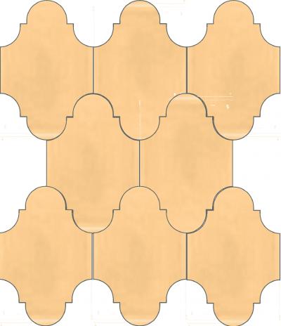 """Плитка Luxemix ручной работы в форме """"Фонарик"""". Цвет абрикосовый, персиковый, желто-розовый ral 0708040"""