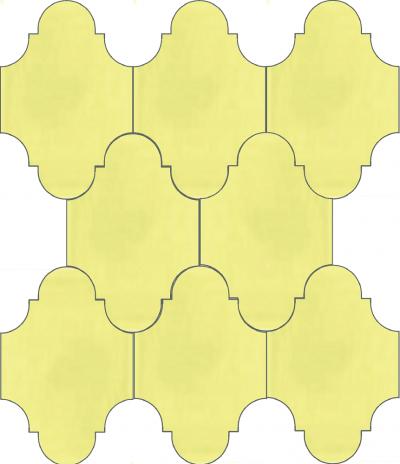 """Плитка Luxemix ручной работы в форме """"Фонарик"""". Цвет желтый, светло-желтый, лимонный желтый ral 0959050."""