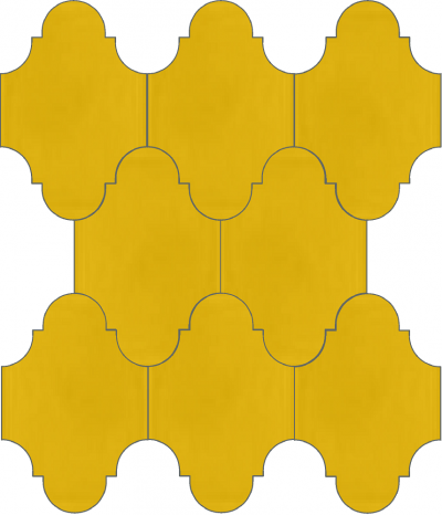 """Плитка Luxemix ручной работы в форме """"Фонарик"""". Цвет желтый, сигнальный желтый ral 1003"""