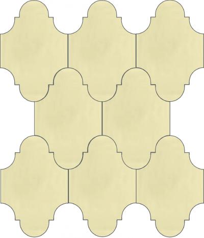 """Плитка Luxemix ручной работы в форме """"Фонарик"""". Цвет белый, молочный, жемчужно-белый ral 1013"""