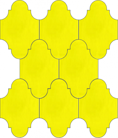 """Плитка Luxemix ручной работы в форме """"Фонарик"""". Цвет желтый, желтая сера ral 1016"""