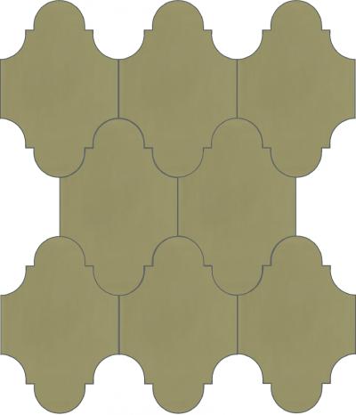 """Плитка Luxemix ручной работы в форме """"Фонарик"""". Цвет зеленый, болотный, оливковый ral  1020"""