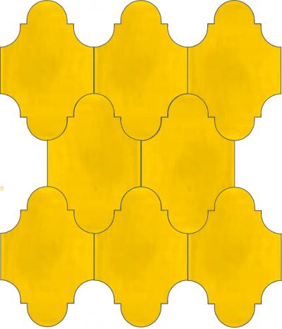 """Плитка Luxemix ручной работы в форме """"Фонарик"""". Цвет желтый, ярко-желтый, солнечный ral 1023"""