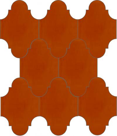 """Плитка Luxemix ручной работы в форме """"Фонарик"""". Цвет оранжевый, апельсиновый, красно-оранжевый, ral 2001"""