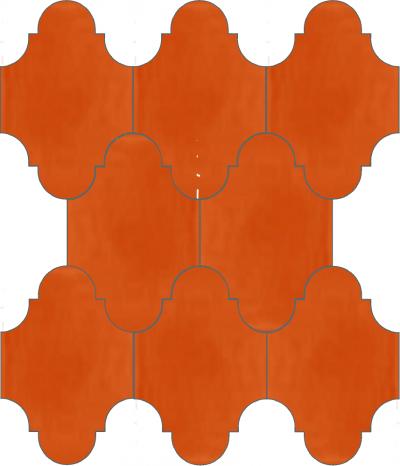 """Плитка Luxemix ручной работы в форме """"Фонарик"""". Цвет оранжевый, ярко красно-оранжевый ral 2008"""
