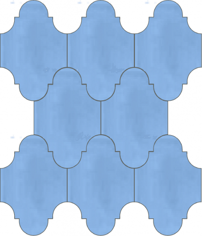 """Плитка Luxemix ручной работы в форме """"Фонарик"""". Цвет голубой, небесный, светло-голубой ral 2507030."""