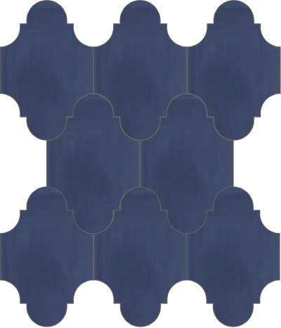 """Плитка Luxemix ручной работы в форме """"Фонарик"""". Цвет темно-синий, сливовый, баклажанный, синий ral 2703020."""