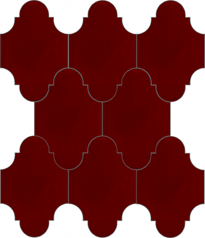 """Плитка Luxemix ручной работы в форме """"Фонарик"""". Цвет темно-красный, красный, коричнево-красный ral 3011"""