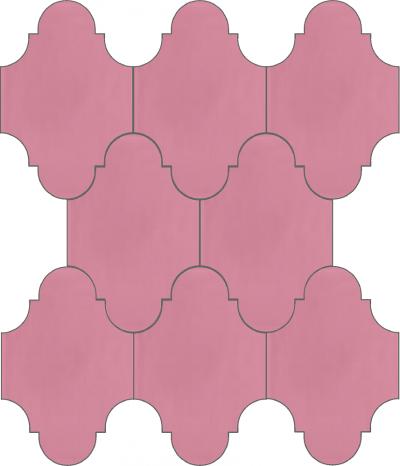 """Плитка Luxemix ручной работы в форме """"Фонарик"""". Цвет розовый, нежно-розовый, светло-розовый ral 3015."""