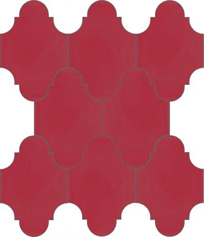 """Плитка Luxemix ручной работы в форме """"Фонарик"""". Цвет коралловый, розовый ral 3017."""