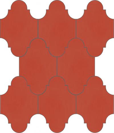 """Плитка Luxemix ручной работы в форме """"Фонарик"""". Цвет красный, лососево-красный ral 3022."""