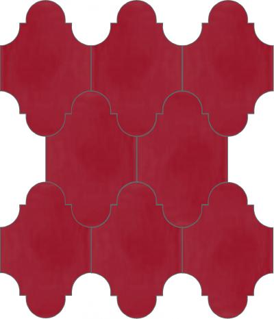 """Плитка Luxemix ручной работы в форме """"Фонарик"""". Цвет малиновый, малиново-красный ral 3027."""