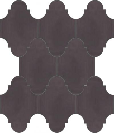 """Плитка Luxemix ручной работы в форме """"Фонарик"""". Цвет фиолетово-красный ral 3603005."""