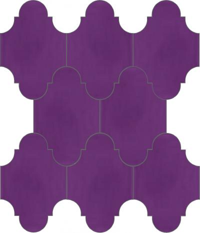 """Плитка Luxemix ручной работы в форме """"Фонарик"""". Цвет фиолетовый, сигнальный фиолетовый ral 4008"""