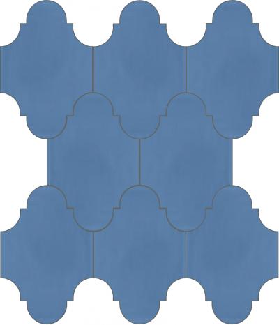 """Плитка Luxemix ручной работы в форме """"Фонарик"""". Цвет бледно-синий, пастельно-синий ral 5024."""