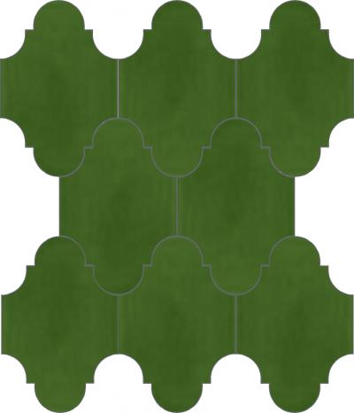 """Плитка Luxemix ручной работы в форме """"Фонарик"""". Цвет зеленый, травяной, травяной зеленый ral 6010."""