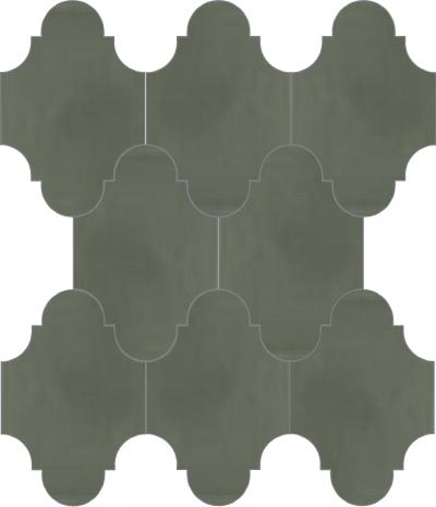 """Плитка Luxemix ручной работы в форме """"Фонарик"""". Цвет серый, цементный, серая умбра ral 7022"""