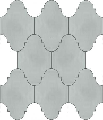 """Плитка Luxemix ручной работы в форме """"Фонарик"""". Цвет серый, светло-серый ral 7035."""
