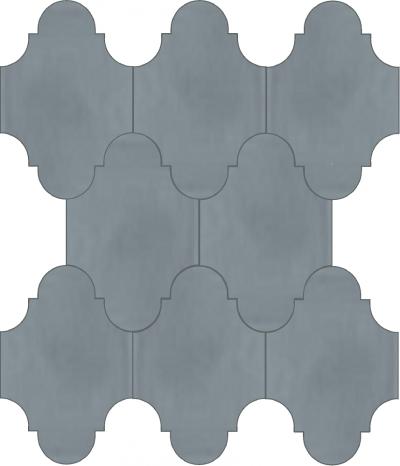 """Плитка Luxemix ручной работы в форме """"Фонарик"""". Цвет серый, мышиный, темно-серый, серое окно ral  7040."""