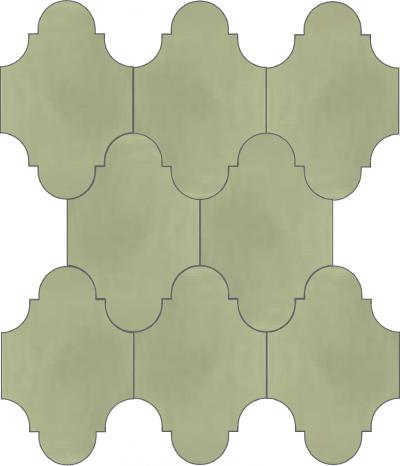 """Плитка Luxemix ручной работы в форме """"Фонарик"""". Цвет серый, пыльно-серый, серый шелк ral 7044."""