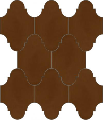 """Плитка Luxemix ручной работы в форме """"Фонарик"""". Цвет коричневый, темно-коричневый, сигнальный коричневый ral 8002."""