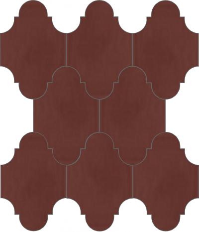 """Плитка Luxemix ручной работы в форме """"Фонарик"""". Цвет коричневый, красно-коричневый ral 8012."""