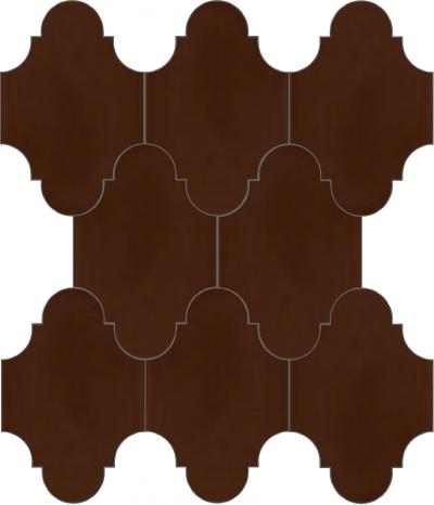 """Плитка Luxemix ручной работы в форме """"Фонарик"""". Цвет коричневый, каштаново-коричневый ral 8015."""