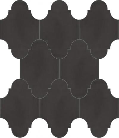 """Плитка Luxemix ручной работы в форме """"Фонарик"""". Цвет коричневый, пыльно-коричневый серо-коричневый ral 8019."""