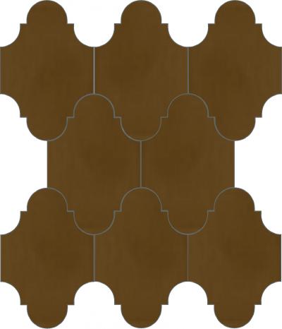 """Плитка Luxemix ручной работы в форме """"Фонарик"""". Цвет коричневый, бежево-коричневый ral 8024."""