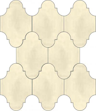 """Плитка Luxemix ручной работы в форме """"Фонарик"""". Цвет белый, молочный, кремовый, кремово-белый ral 9001."""