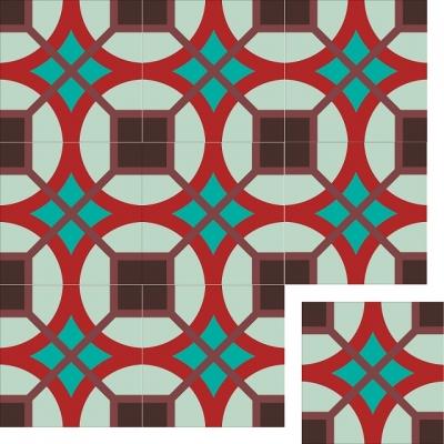 Цементная плитка ручной работы Luxemix. Коллекция Vintage. Арт.: vin_19