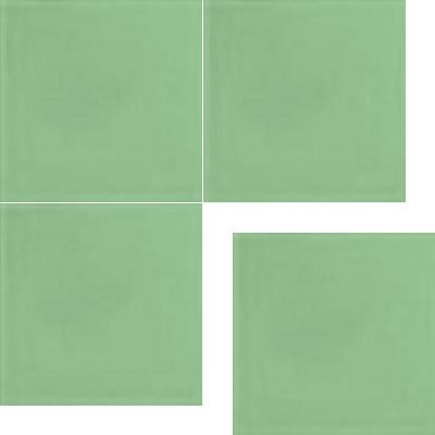 Моноцветная цементная плитка Luxemix формата 25x25см. Цвет 1307030 (зеленый).