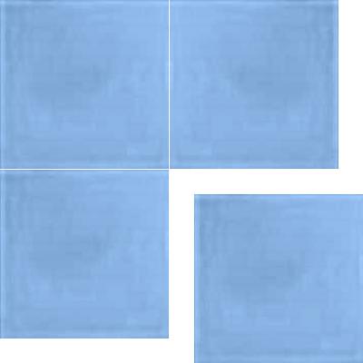 Моноцветная цементная плитка Luxemix формата 25x25см. Цвет 2507030 (синий).