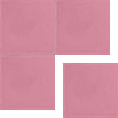 Моноцветная цементная плитка Luxemix формата 25x25см. Цвет 3015 (розовый).