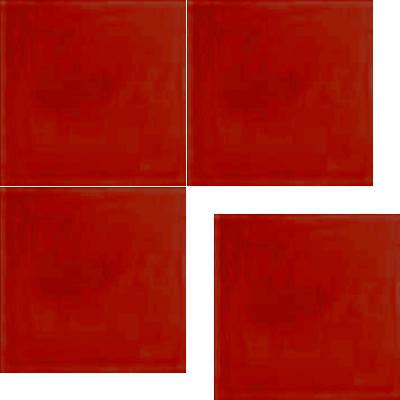 Моноцветная цементная плитка Luxemix формата 25x25см. Цвет 3020 (красный).