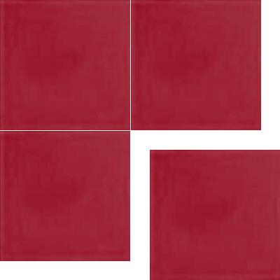 Моноцветная цементная плитка Luxemix формата 25x25см. Цвет 3027 (красный).